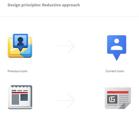 google design principles reductive geometric front facing a look at google s