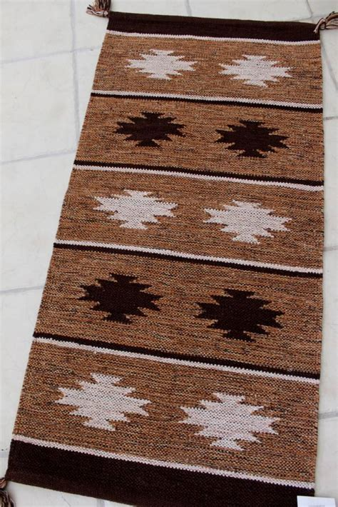 Aztec Runner Rug by Aztec Shuttle Rug Runner Modern Woven Cotton Striped