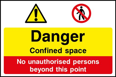 confined space sign health and safety signs
