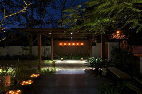 Home Plans With Courtyard Terrace Lighting Courtyard House By Hiren Patel Architects