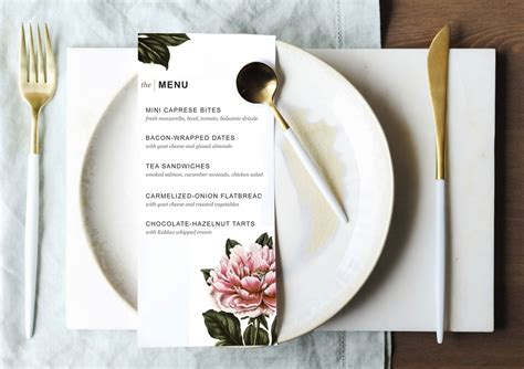 unique of blank dinner menu template planning download the above