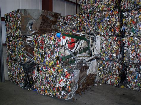 Metal Recycling File Steel Recycling Bales Jpg Wikimedia Commons