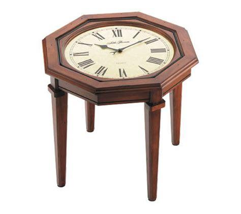 Coffee Table With Clock Seth Walnut Finish Octagonal Coffee Table Clock Qvc