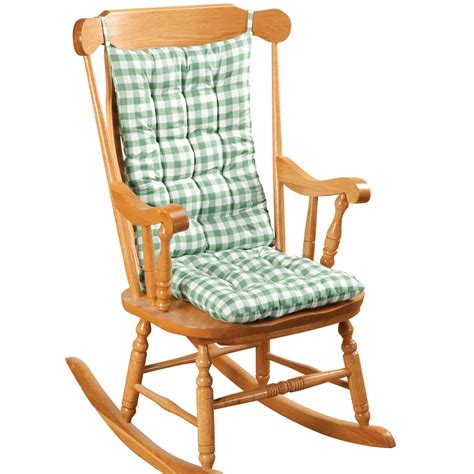 gingham rocking chair cushion set  oakridgetm ebay