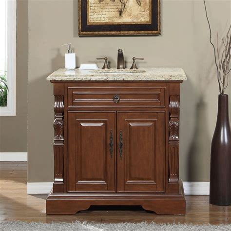 Granite Bathroom Vanities Accord 36 Inch Single Sink Bathroom Vanity Venetian Granite Top