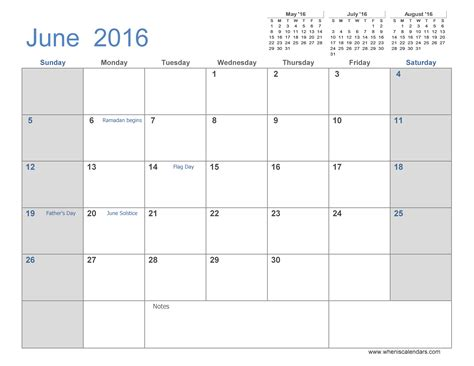 month calendar templates june 2016 calendar printable 3 month calendar template