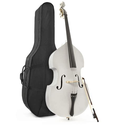 Dryer Contra Bass 4 Strings student 3 4 bass white by gear4music at gear4music