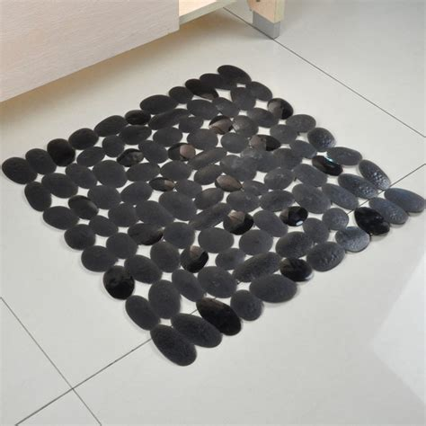 black bathtub mat black pvc pebble bath mat purple anti slip shower carpets tapetes banheiro square