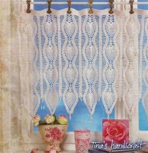 Crochet Cafe Curtains 7 Best Crochet Curtains Images On Pinterest Crochet Curtains Curtain Patterns And Crochet