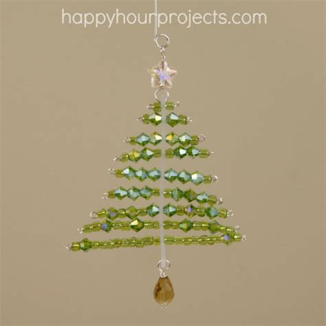 beaded christmas tree ornament rustick expressions