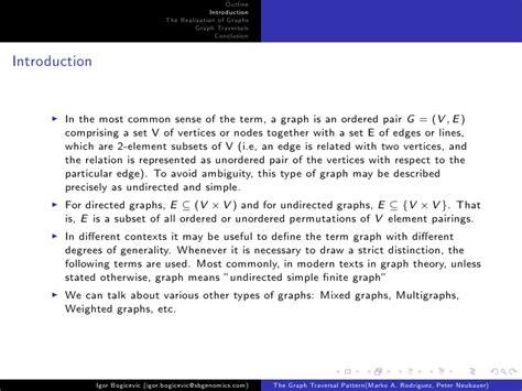 visitor pattern graph traversal the graph traversal pattern