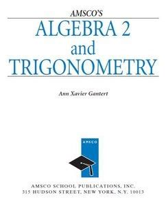Algebra 2 And Trigonometry Student Edition Funkster