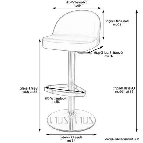 bar stool dimensions standard bar dimensions counter www pixshark com images
