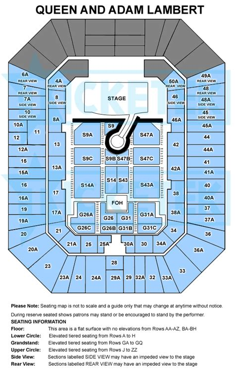 entertainment centre floor plan a once in a lifetime experience queen adam lambert