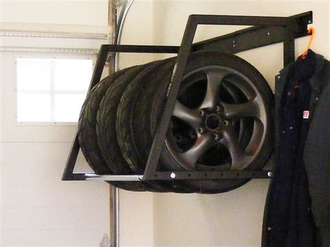 Wall Mounted Tire Rack by Tire Storage Nuvo Garage