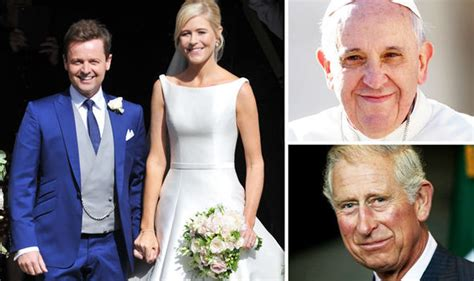 Papal Wedding Blessing Uk by Declan Donnelly And Ali Astall Given Seal Of Approval By