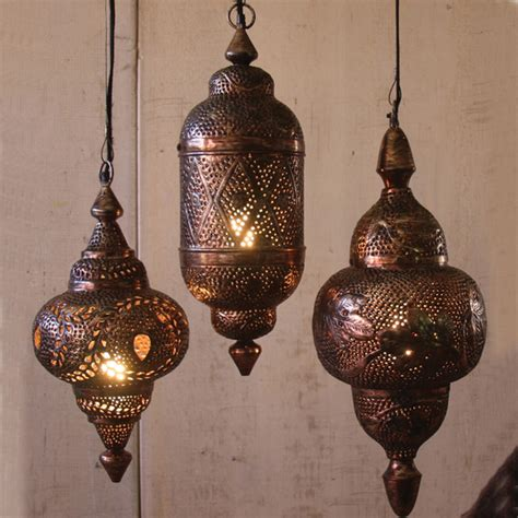 Moroccan Light Pendant Hanging Metal Moroccan Pendants Mediterranean Pendant Lighting Atlanta By Iron Accents