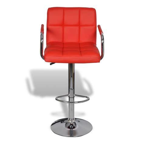 sgabello rosso 2 x sgabello da bar rosso con poggiabraccio vidaxl it