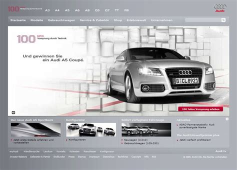 Audi Official Website by Audi De Textbyte