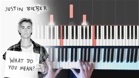 tutorial gitar what do you mean justin bieber what do you mean piano tutorial youtube