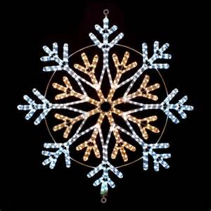 cool white and warm white led snowflake lighted motif 35 4