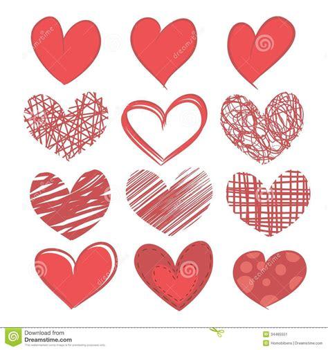 imagenes en blanco de corazones sistema de corazones en el fondo blanco imagen de archivo
