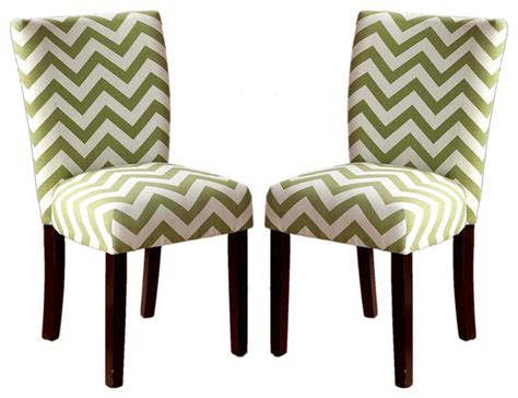 Chevron Dining Chairs Chevron Print Fabric Upholstered Dining Side Chairs Set