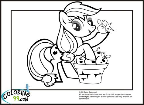 Free Coloring Pages Of My Little Pony Apple Bloom My Pony Applejack Coloring Pages