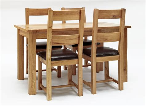 westbury reclaimed oak dining table 4 or 6 oak chairs