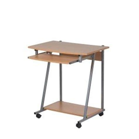office desk with wheels wooden computer office table desk workstation