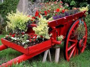 Garden Flower Cart Beautiful Garden Wallpapers 16 Photos Funmag Org