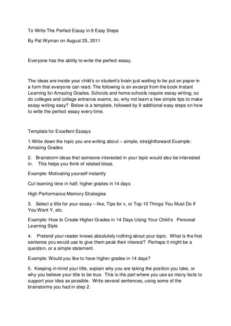 Who To Write A Essay by To Write The Essay In 9 Easy Steps