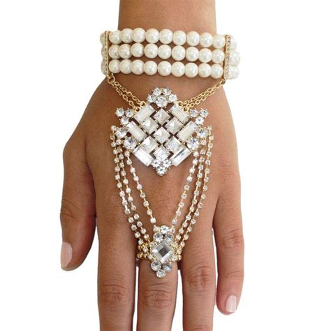great gatsby chain bracelet white pearl wedding bracelet for a gorgeous look 2042014