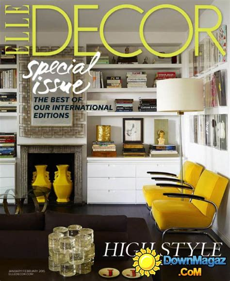 home decor magazines usa elle decor usa january february 2015 187 download pdf