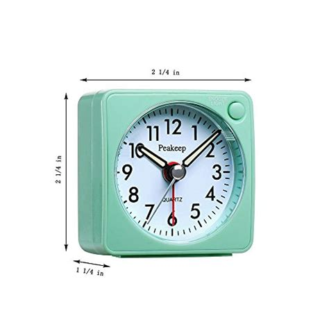 ultra small peakeep battery travel alarm clock with snooze and light silent no ebay