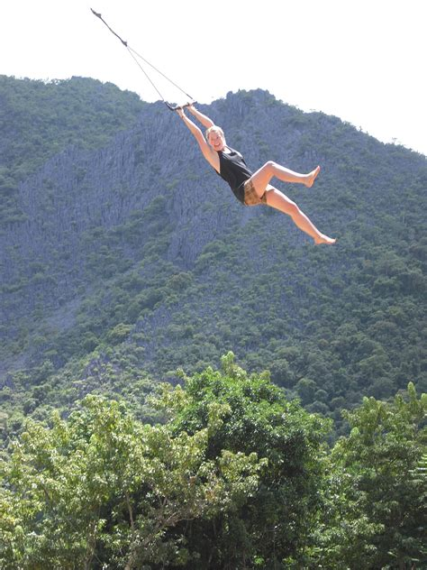 rope swinging rope swing experience travel group blog