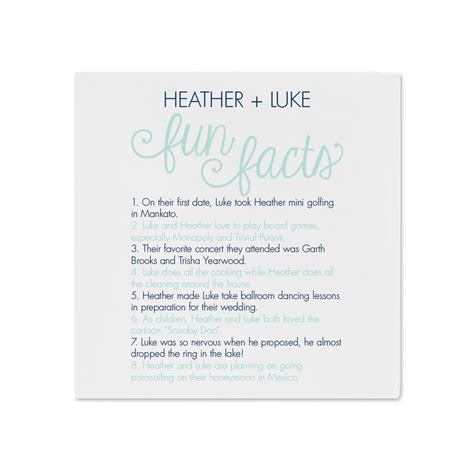 Wedding Facts by Facts Dinner Napkin Invitations By