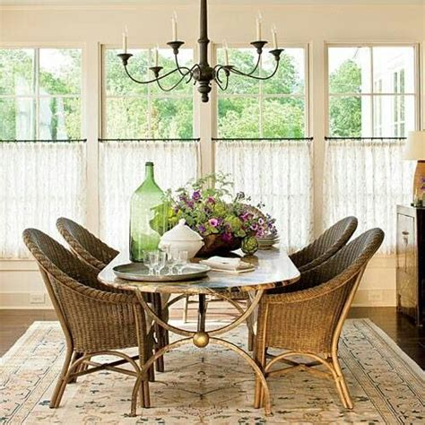 cafe curtains for living room cafe curtains via southern living house ideas pinterest