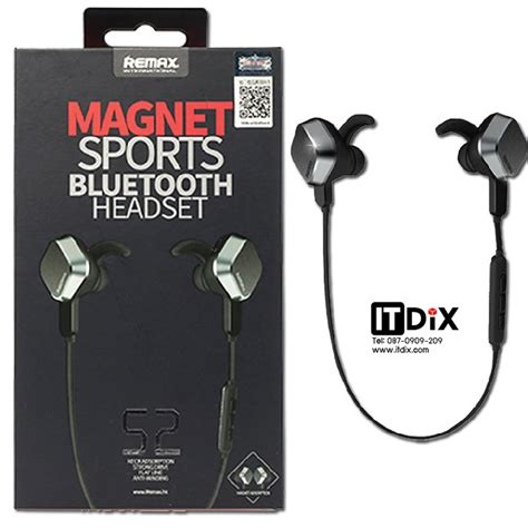 Hetset Remax ห ฟ งบล ท ธ remax rm s2 magnet sports bluetooth headset