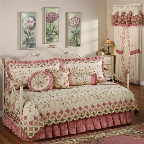 day bed comforter golden red long curtains combined with cream red comforter