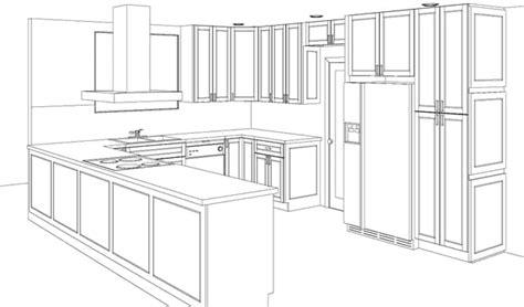 Schrank Skizze by Kitchen Cabinet Sketch Sketch Coloring Page