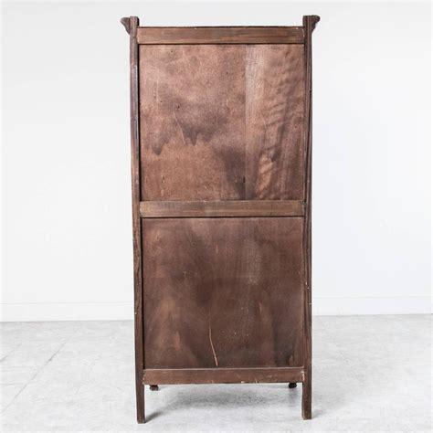solid walnut louis xv style bonnetiere single door