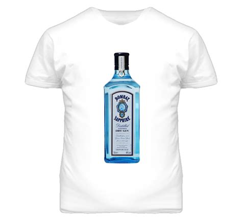 bombay sapphire gin graphic liquor t shirt tees t s and