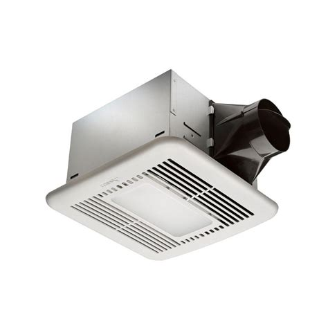 exhaust fan with light for bathroom hton bay 80 cfm ceiling exhaust fan with led light and