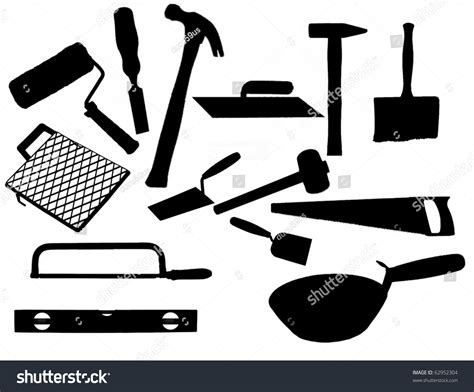 How To Measure The Square Footage Of A House by Collection Most Common Types Masonry Tools Stock Vector