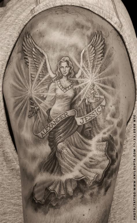 angel arm tattoo designs guardian cools tattoos tattoos