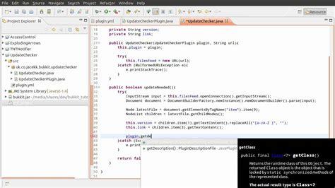 plugin pattern java exle java bukkit plugin tutorial update checking part 02