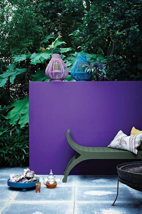 Ulta Winter Garden by Sandtex Feature Wall In Purple Frenzy Great Outdoors