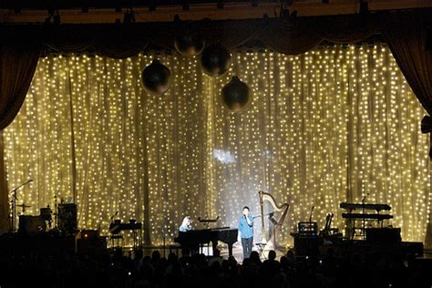 drapey christmas lights led stage drape for david archuleta a butch alle flickr