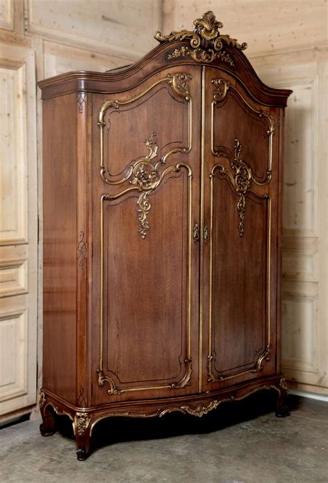 antique wardrobes and armoires antique french regence serpentine walnut armoire at 1stdibs